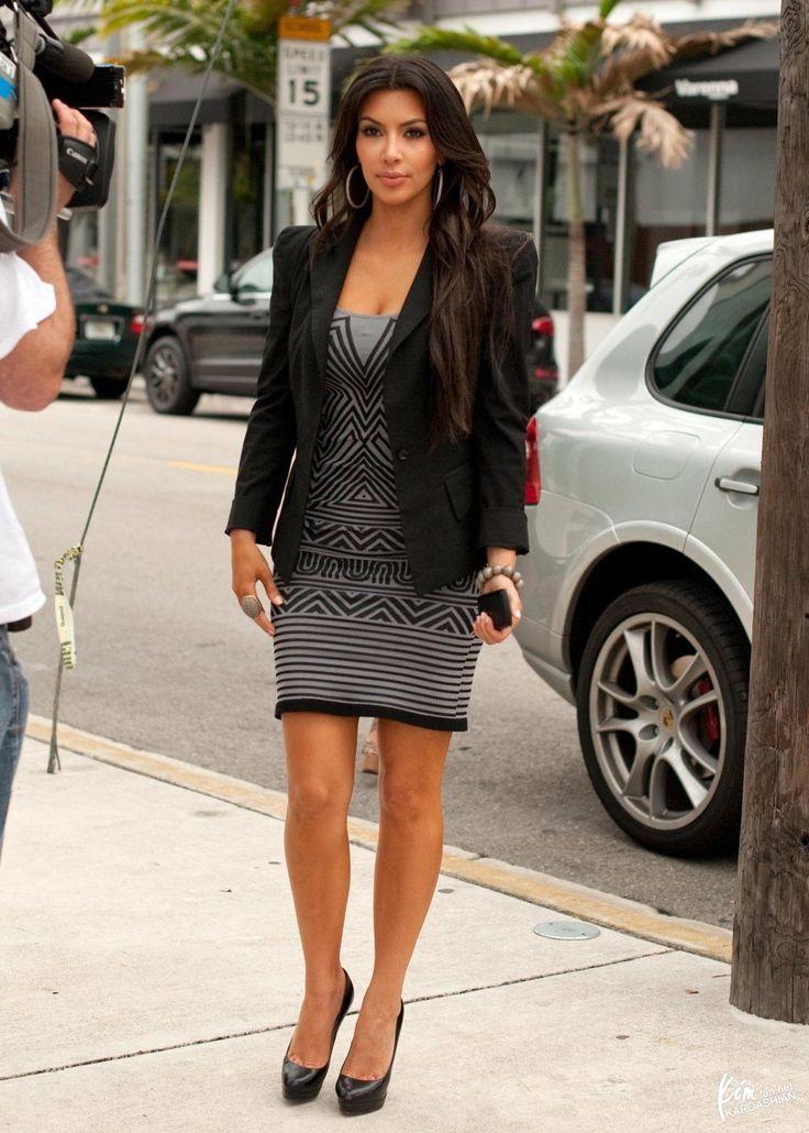 Dress With Blazer Kim Kardashian Fashion Pinterest