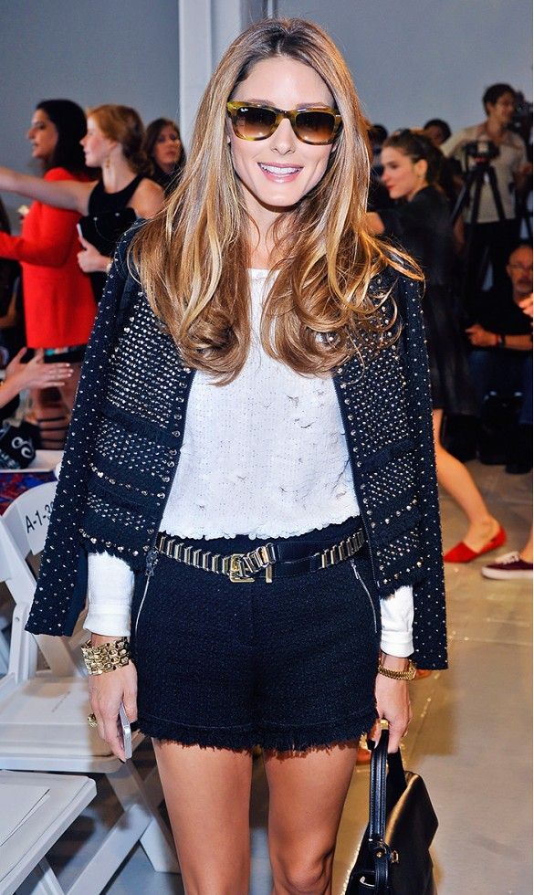 Olivia Palermo proves that black and white is ANYTHING but boring! // #celebritystyle