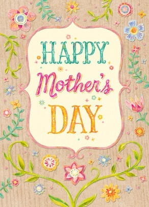Mother's Day is just around the corner! May 11th to be exact. Floral cards and a box of chocolates are a must!