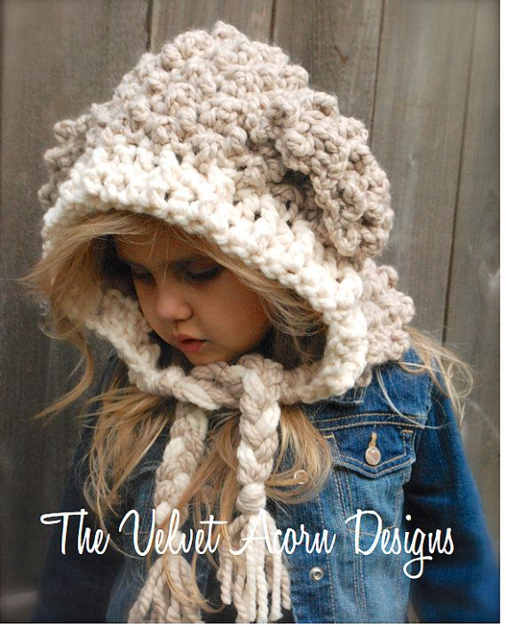 Crochet PATTERN-The Lyra Lamb Hood (12/18 month,Toddler, Child, Adult sizes)