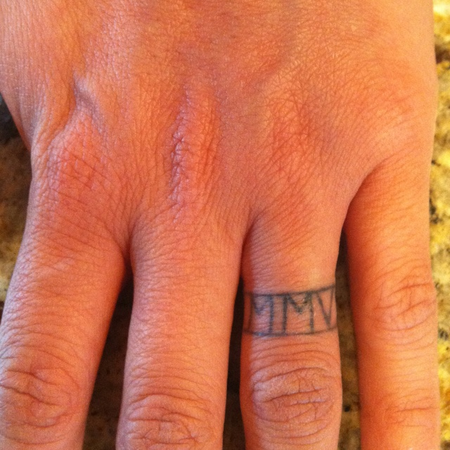 Ring tattoo in roman numerals tattoo pinterest for Roman numerals tattoo on finger
