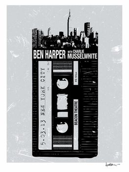 Ben Harper and Charlie Musselwhite New York City, NY. #gigposters #concerts #musicart http://www.pinterest.com/TheHitman14/music-poster-art-%2B/