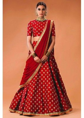 Bollywood Replica - Wedding Wear Red Lehenga Choli  - WCRed