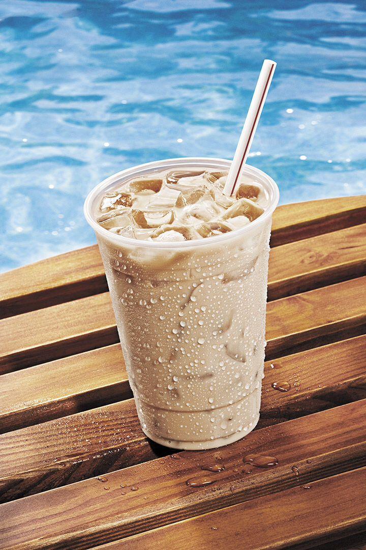 how to make an iced vanilla latte starbucks
