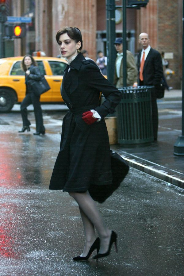 Anne Hathaway in The Devil Wears Prada | If I could wear one outfit for the rest of my life, it would be this.