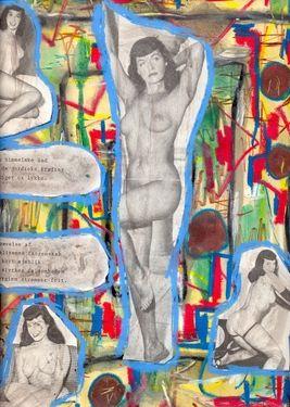"""Saatchi Art Artist Torben Dalhof; Collage, """"Bettie Page #4"""" #art"""