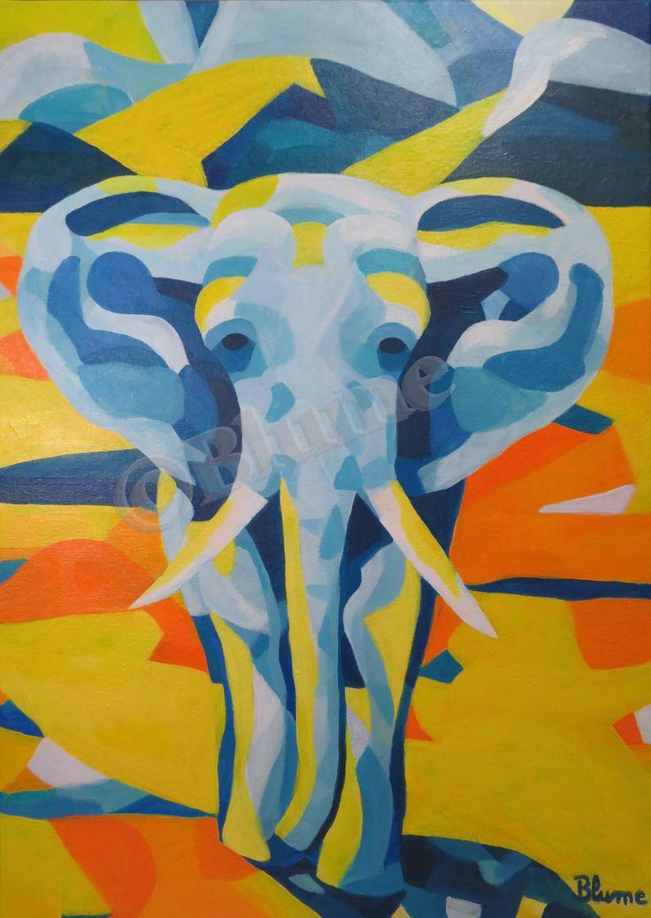 1000 ideen zu elefanten leinwand auf pinterest. Black Bedroom Furniture Sets. Home Design Ideas