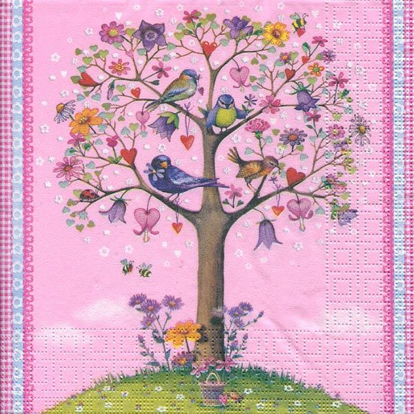 Serviett, 33x33 cm - Love tree