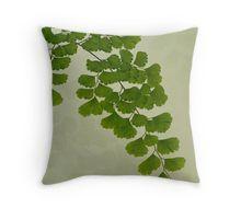 Throw Pillow. #fern #maidenhairfern #sandrafoster