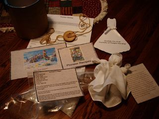 Pioneer Day gift - games, ice cream in a zip loc bag, pioneer stories, etc. @ andersenseven.typepad.com