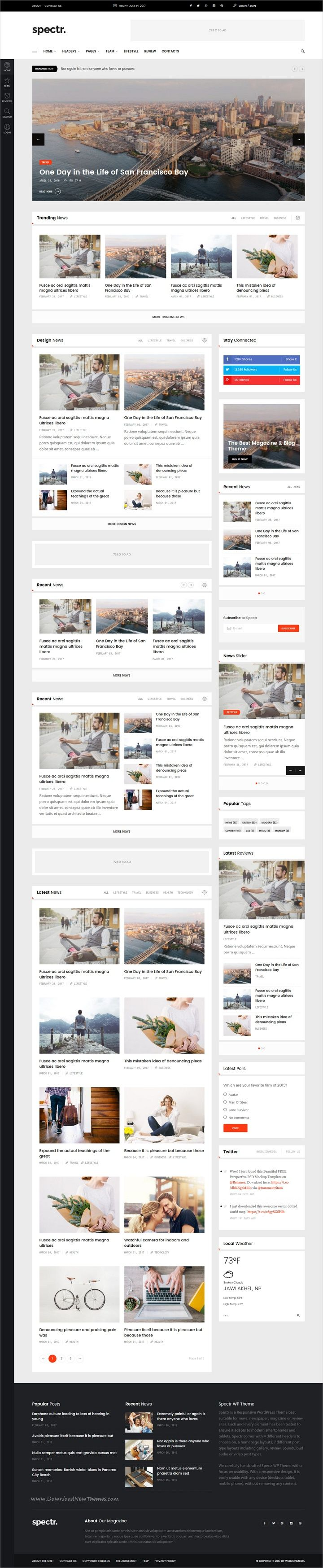 Spectr is modern and creative design 6in1 responsive #WordPress theme for #news, #magazine and blogs website download now > https://themeforest.net/item/spectr-responsive-news-and-magazine-wordpress-theme/19559306?ref=Datasata