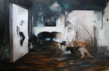 """Saatchi Art Artist Magdalena Lamri; Painting, """"We are only prey"""" #art"""