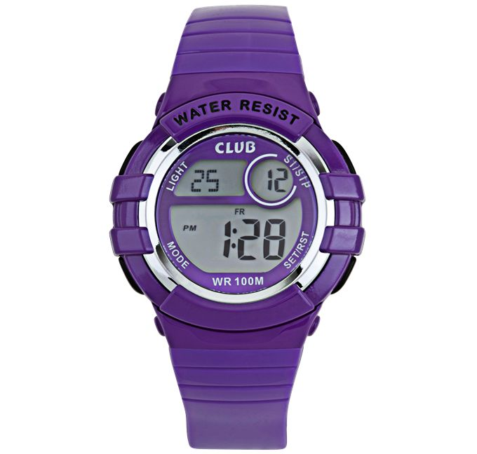 Club digital barne klokke - lilla