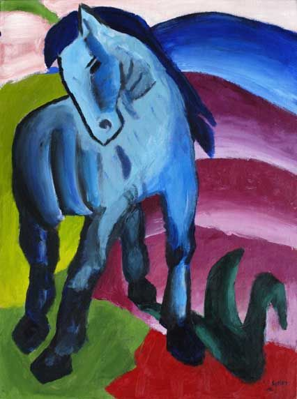 Blue Horse,  Franz Marc