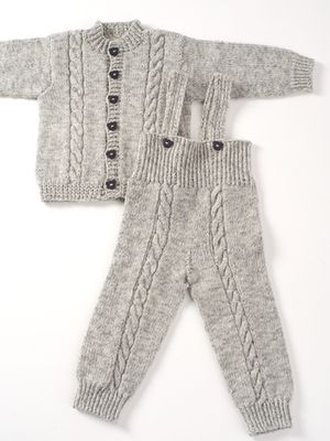 Neulottu vauvan takki ja housut Novita Nalle | Novita knits