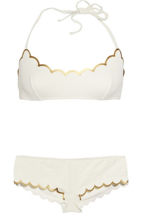 scalloped bikini by Chloé