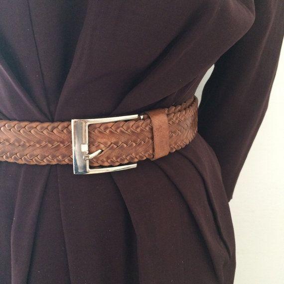 BRAIDED LEATHER BELT, Pleated leather belt, Woven belt - UNISEX by ScandaloAlSole