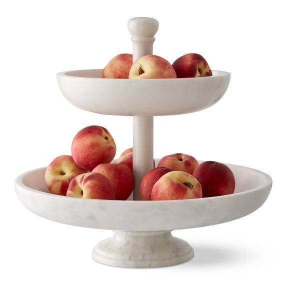 Marble Tiered Fruit Basket Tiered Fruit Basket Replacing