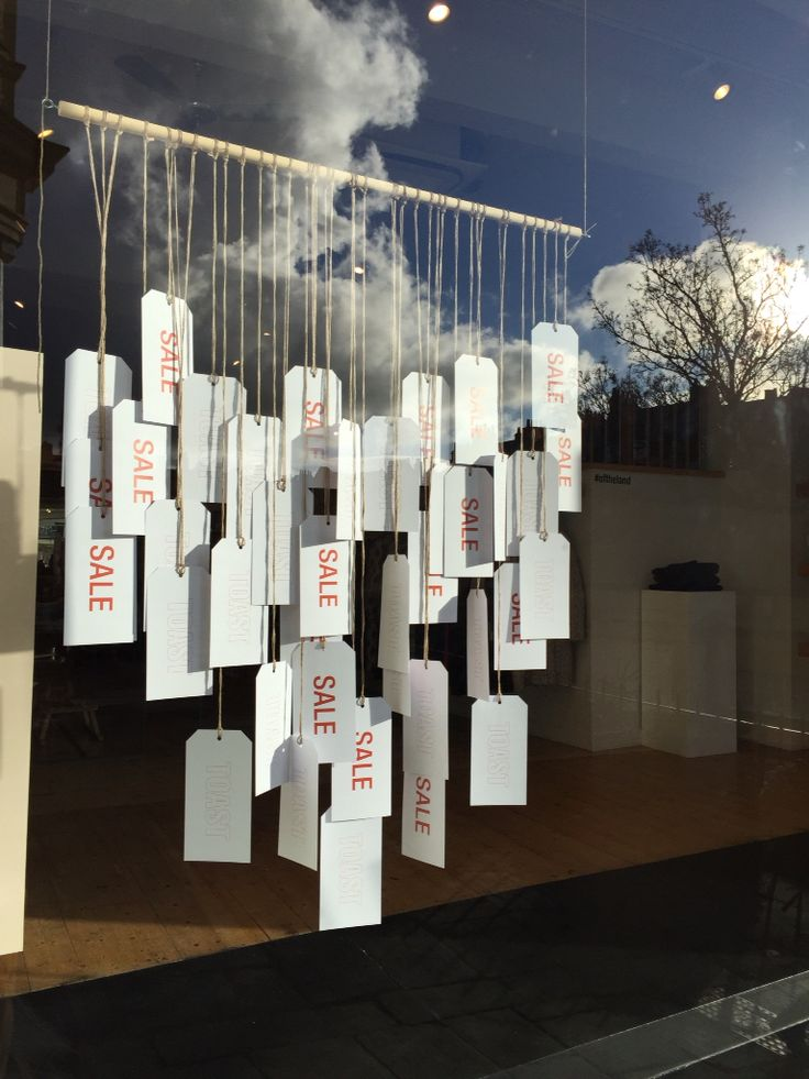 Sale window at Toast in Bath January 2016