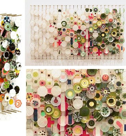 Jacob hashimoto installation above coil stairs?