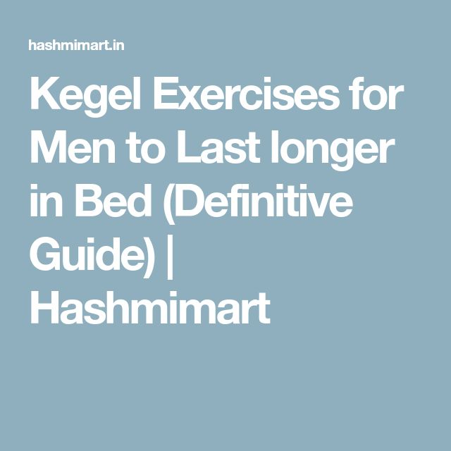 Lasting longer in sex exercises