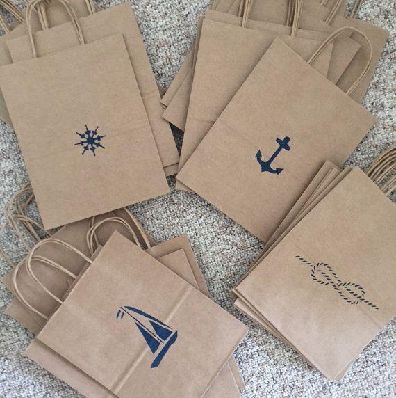 Nautical Bags- Favor Bags- Welcome Bags- Destination Wedding