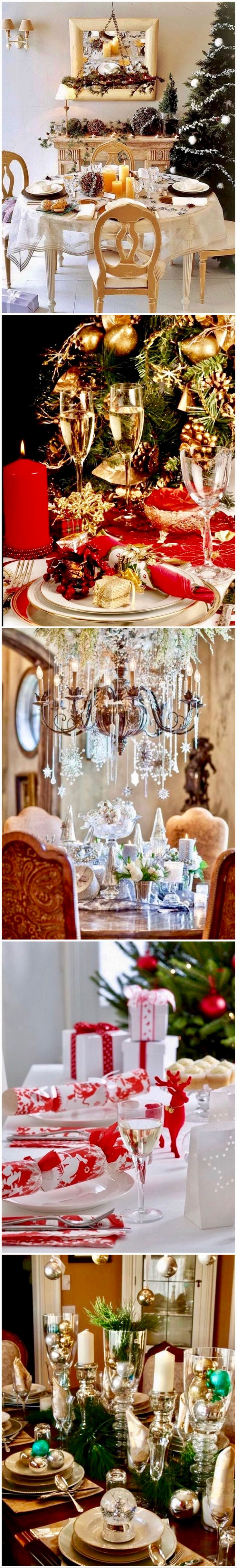 921 best christmas table decorations images on pinterest Best table decoration ideas