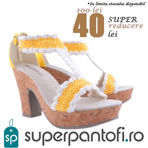 Cumpara acum!  http://www.superpantofi.ro/sandale-galbene-cu-toc-inalt-lil-999
