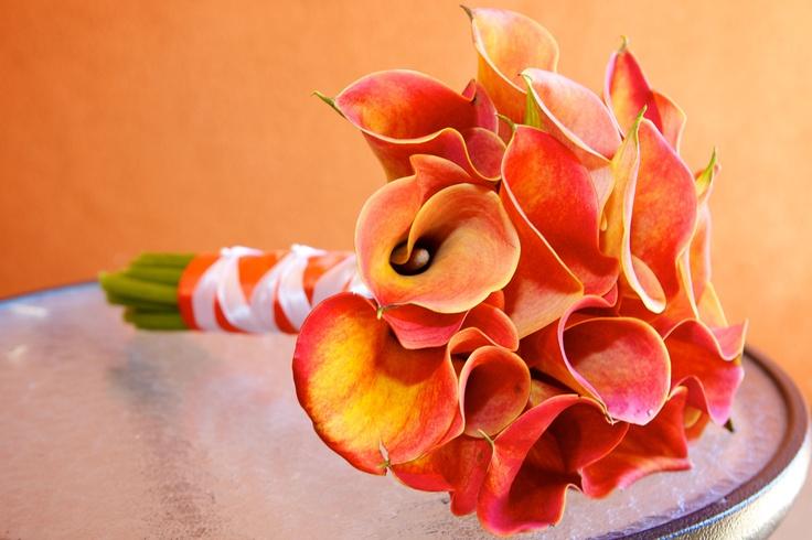 My bouquet - I love calla lillies