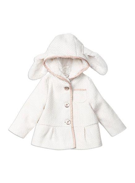 Pumpkin Patch - jackets - gold trim textured jacket - W5TG40022 - vanilla - 12-18m to 6
