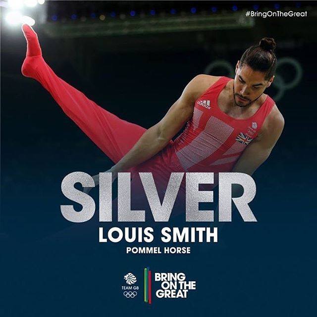 And SILVER for Great Britain's Louis Smith!!  #Gymnastics  #Rio2016