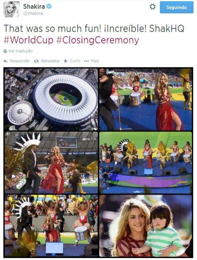 Shakira posta montagem dos momentos no Maracanã (Foto: Reprodução)