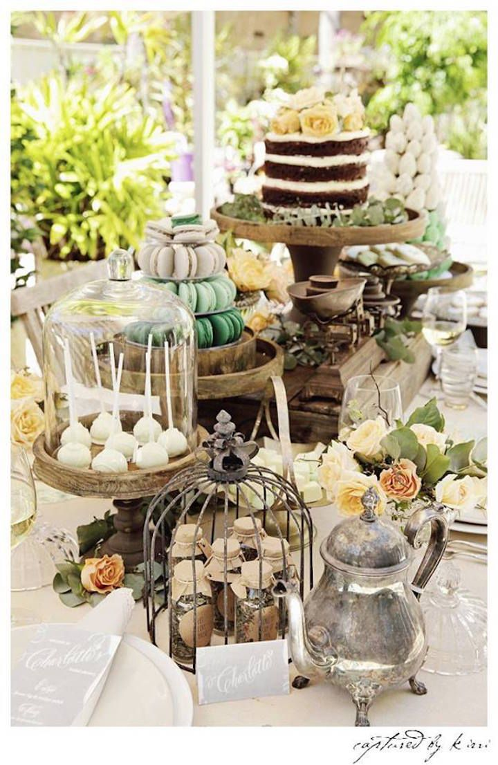 Sweets Table From Rustic Outdoor Bridal Shower At Kara S Party Ideas See More Karaspartyideas