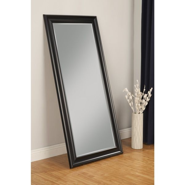 "Budget option for floor mirror in master, $175.99, 65""H x 31""W x 2""D, Sandberg Furniture Black Finish Full Length Leaner Mirror"
