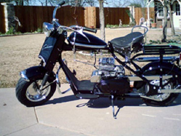 1958 Cushman Black Golden Eagle Middle Of The Line Motor