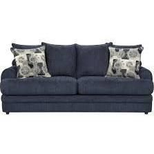 "CALIBER Series 4653CALIBERNAVY-GG 91"" Exceptional Designs by Flash Caliber Sofa with Loose Seat and Back Cushions and Decorative Toss Pillows in Navy Chenille"