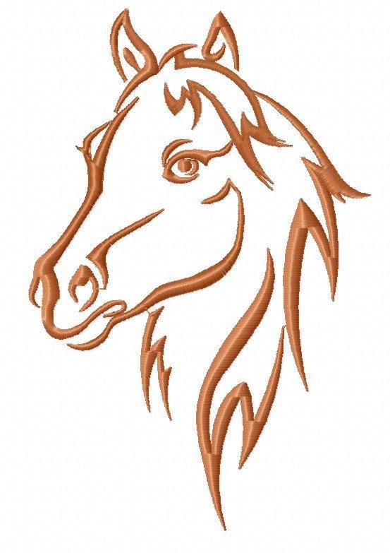 a horse's head – Machine Embroidery Design