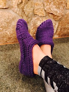 Ravelry: Snow Day Slippers pattern by ESP for Morehouse Farm