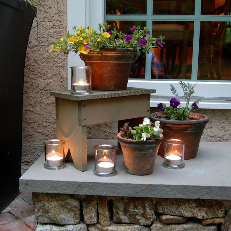 Illuminate your entrance to welcome guests with these trendy Glass Jars and MegaTealight Candles! Candles also available in Citronella. http://www.lumabase.com/categories/lanterns---glass
