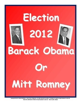 ... Students select their candidate for the 2012 presidential election