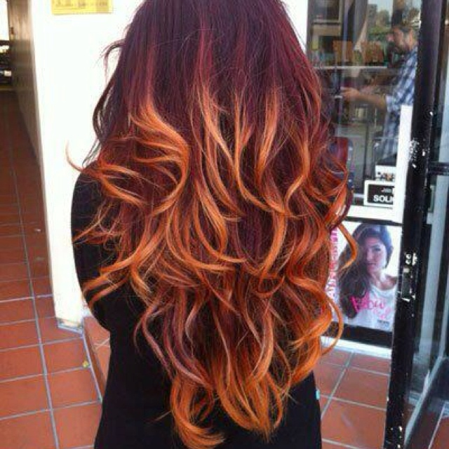 Love the color--might be easier to go this light as opposed to straight blonde with my dark hair. LOVE the red at the top!