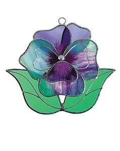Sweet and delicate pansy suncatcher