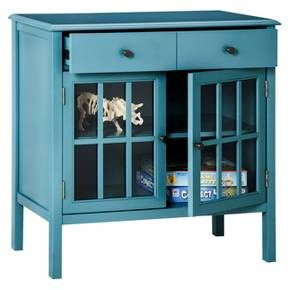 Windham Accent Cabinet With Drawer Teal Thresh
