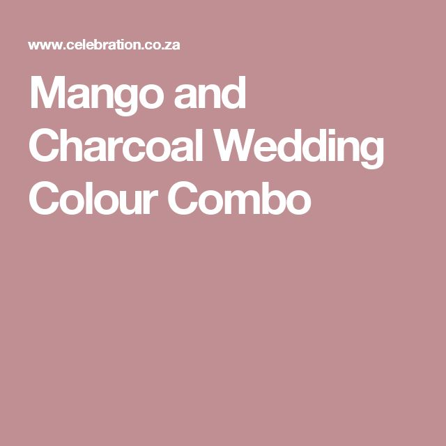 Mango and Charcoal Wedding Colour Combo