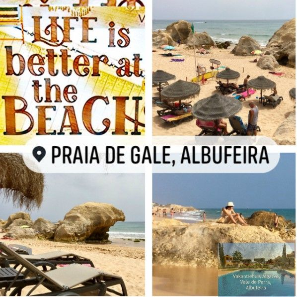VakantiehuisAlgarve is a comfortable 2 bedroom holiday apartment located 2.3 km from beautiful Galé beach and 1.2 km from Salgadosgolf, offering accommodation in Vale de Parra, Albufeira in the Algarve, Portugal. On this picture you see Galé beach.