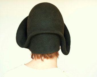Verdi sentiva inverno stile vintage a mano cappello cloche, gatsby cappello di stile donne