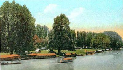 Chinar Bagh Dal Gate Srinagar Jammu and Kashmir 1910.