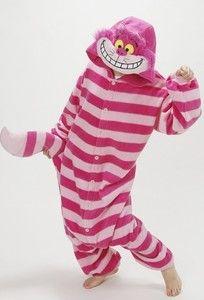 cheshire cat costume | KIGURUMI Disney Cheshire Cat Costume Pajama Pajamas SAZAC Japan Free ...