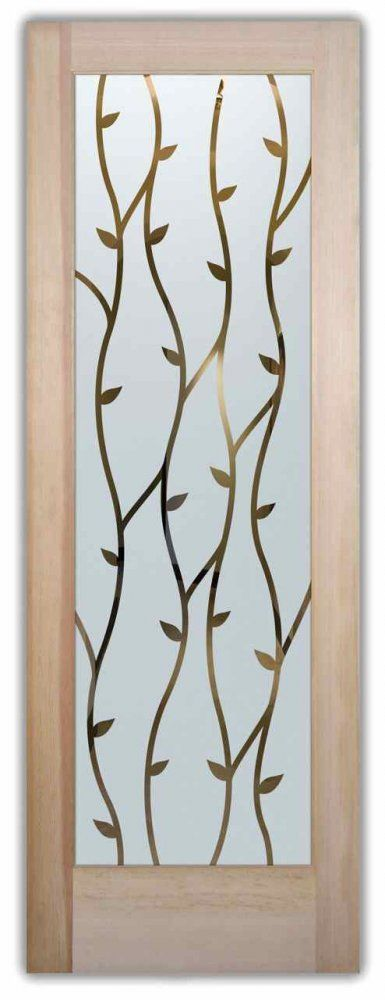 Wrought Iron Vines Etched Glass Front Doors Tuscan Decor Glass Doors YOU customize and buy online! Custom designed, quality sandblast etched glass designs!