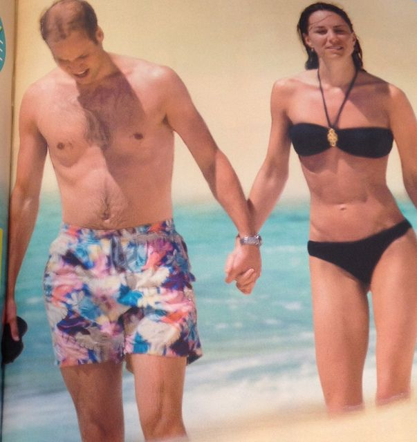 Prince William and Kate Middleton during the Seychelles Honeymoon in 2011's